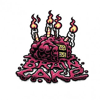 BRAIN CAKE STICKER